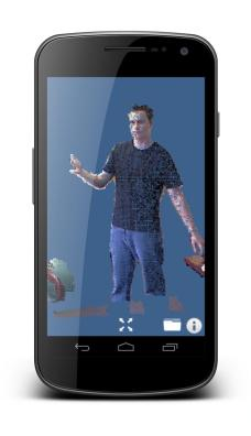 A point cloud displayed in KiwiViewer on Android mobile phone