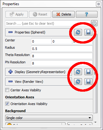 New in ParaView: Easy saving of custom defaults in ParaView