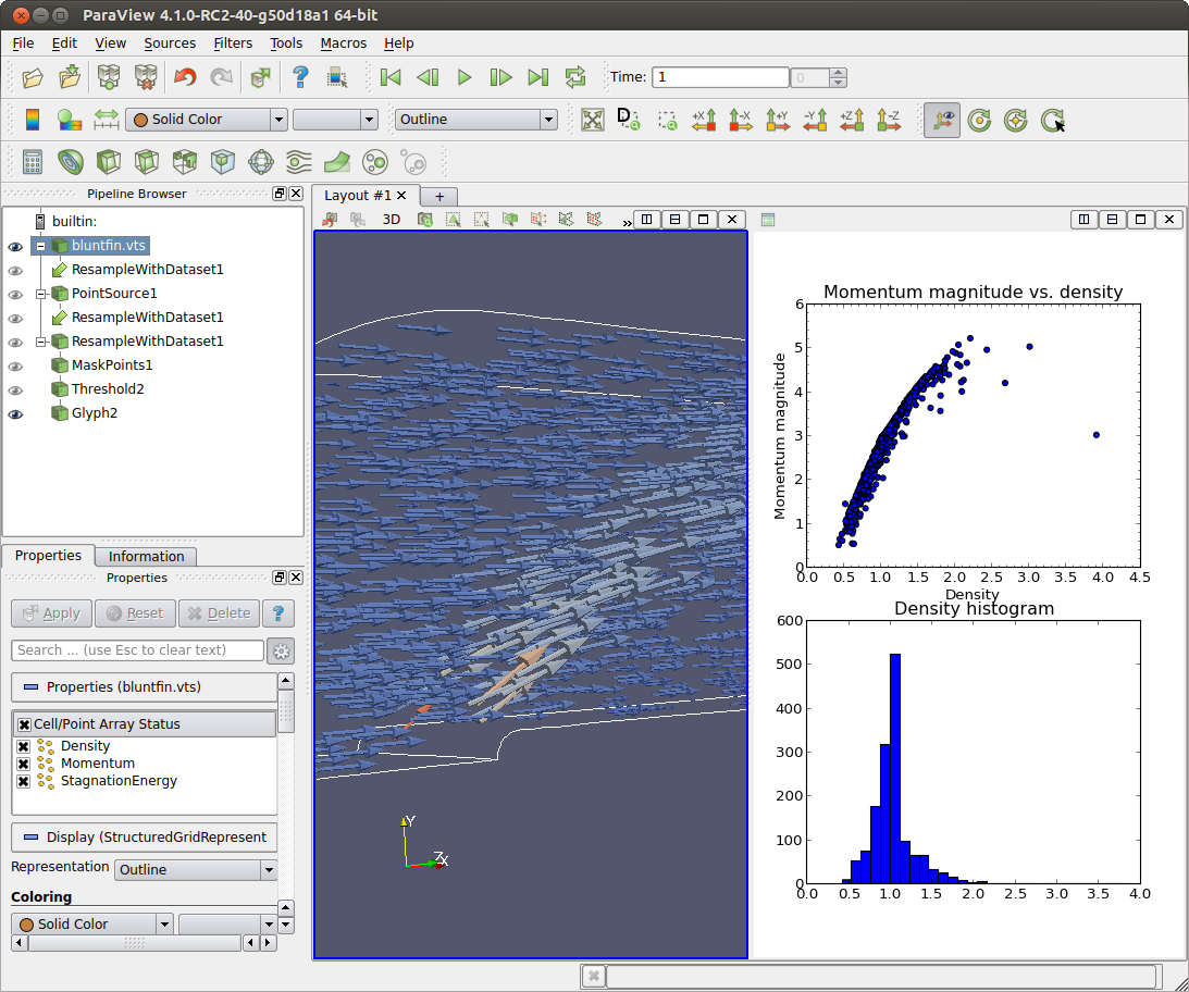 matplotlib View coming in ParaView 4 1 - Kitware Blog