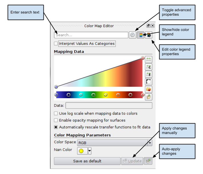 Using The Color Map Editor In ParaView The Basics Kitware Blog - Map color legend